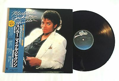 MICHAEL JACKSON Thriller JAPAN VINYL LP 25.3P-399 w/OBI & Booklet