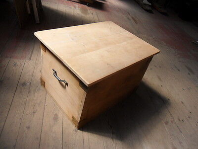 part stripped wood blanket box pine storage box childs toy chest box to finish