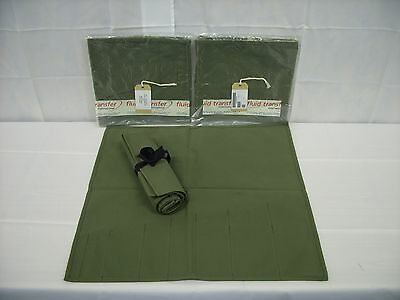 British Army - Military - NATO - Canvas Tool Roll  - Bag - Land Rover - Kit - W7