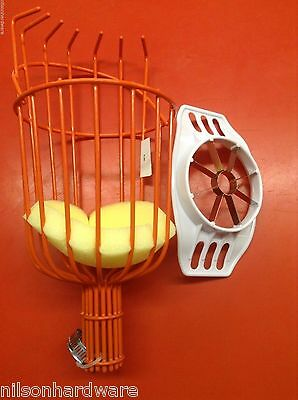 Fruit Picker Basket Corer Slicer Picking Apple Plum Orange Vinyl Coated Fingers