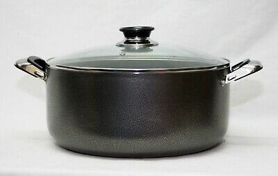 30cm NON STICK CASSEROLE POT COOKING PAN STOCKPOT CASSEROL GLASS LID COOKWARE 42