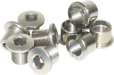 Single Chainring Bolts MTB Bicycle Bike 6.5mm Cromo Steel Chain Ring Bolt