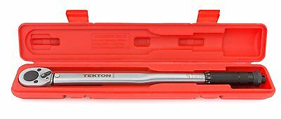 TEKTON 24335 1/2-Inch Drive Click Torque Wrench, 10-150-Foot/Pound, New