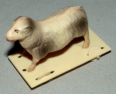 1940's Original Antique Celluloid Penny Toy Goat On Wheel