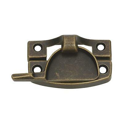 35 Pk Die Cast Antique Brass Finish Crescent Shaped Window Sash Lock N170761