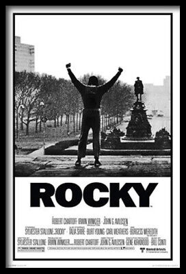 (Framed) Rocky Movie Poster 66X96Cm Art Print Picture Motivational Brand New
