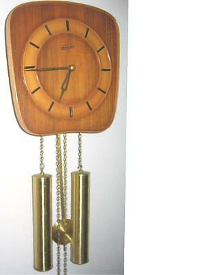 Le CASTEL DANISH MODERN MID CENTURY WALL CLOCK -- very nice plus +