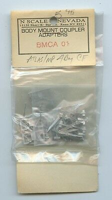 N scale of Nevada Body Mount Coupler Adapters BMCA-01