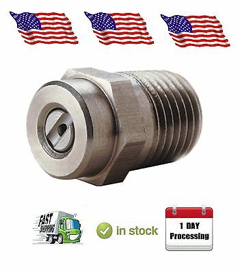 "Pressure Washer Nozzle Tip 030 3.0, 1/4"" Threaded Screw Type 40 Degree Stainless"