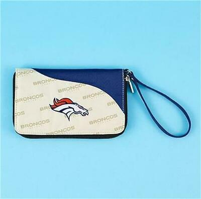 NFL BENGALS or GIANTS CELL PHONE WALLET WRISTLET EMBROIDERED TEAM LOGO