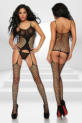 Bodystocking ouvert aus Netz von Luxury & Good Dessous