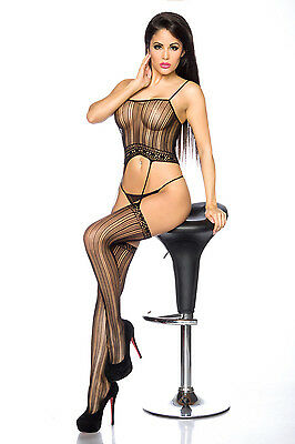 Straps-Bodystocking ouvert von Beautys Love
