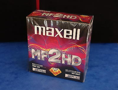 *** Pack De 10 Disquettes 1.44Mb - Maxell Ultra / Mf2Hd - Neuves Sous Blister **