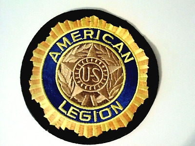 "American Legion Patch with US in the center  4"" Sewn on only"