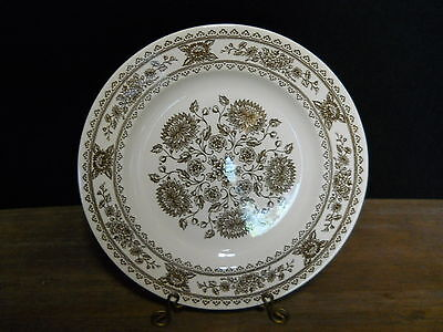 Dinner Plate Royal China Vendome Pattern Brown On Off White Vintage