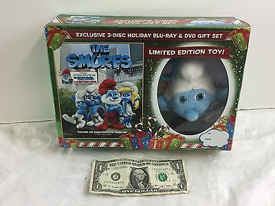 The Smurfs Exclusive 3-Disc Holiday Blu-Ray & DVD Gift Set + Limited Edition Toy