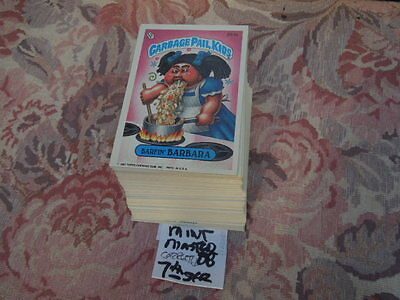 1987  87  Garbage Pail Kids GPK USA Series 7  2nd print Set 88 cards Nr-MINT!