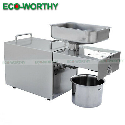 220V Automatic Oil Expeller Press Machine Hot & Cold Extractor for Nuts / Seeds