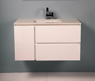 900mm Freestanding or Wall Hung Bathroom Vanity Unit With Stone Top-G