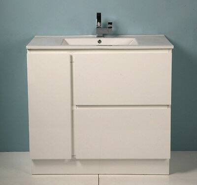900mm Freestanding or Wall Hung Bathroom Vanity Unit With Ceramic Top-G