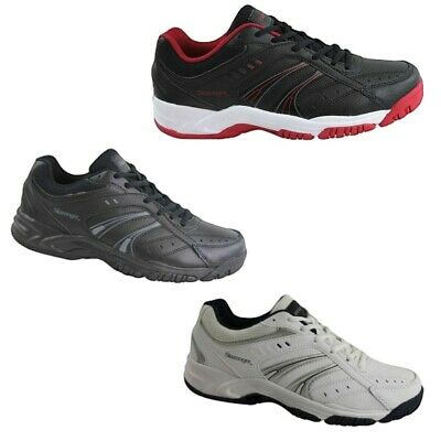 Slazenger Baseline Leather White Navy Black Red Running Sports Men's Runners