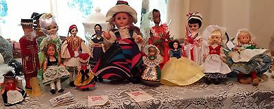 Large Lot of Vintage Dolls-Made in Greece, Italy, Etc.