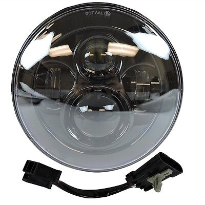 "7"" LED Projector Daymaker Black Headlight Harley Street Glide Softail FLHX FLD"