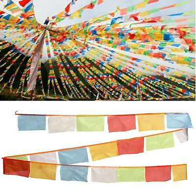 5M/196.9'' Tibet Tibten Buddhist Buddha Colorful Wind Horse Prayer Flags Cloth