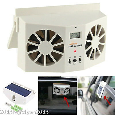 Solar Powered Auto Car Window Air Vent Ventilator Mini Air Conditioner Cool Fan