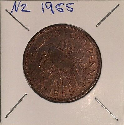 New Zealand 1955 Penny - VG or Better
