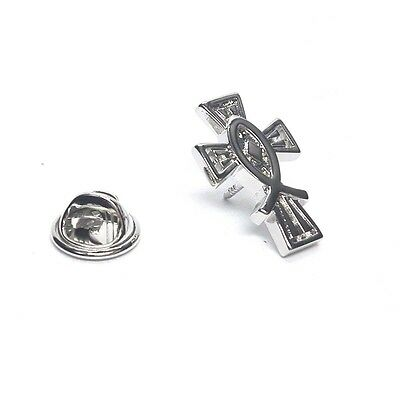 Icthus Christian Cross Lapel Pin Badge X2AJTP521