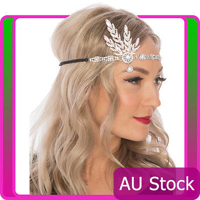 20s 1920s Headband Vintage Bridal Great Gatsby Headpiece Costume Accessories