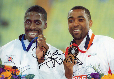 Dwain Chambers, British sprinter, Olympics, signed 12x8 photo. COA. Proof.