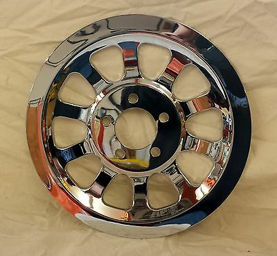 Dyna 07-13 Chrome 66T Pulley Cover  Harley Davidson
