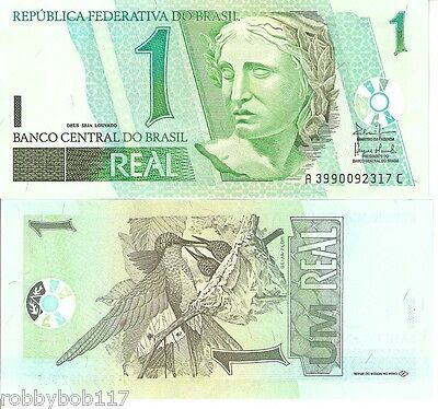 BRAZIL 1 Real Banknote World Paper Money UNC Currency Pick p-251a Bill Note