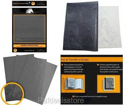 Transfer Paper For Wood Canvas Artwork Graphite Carbon Tracing Grey 25 Sheets