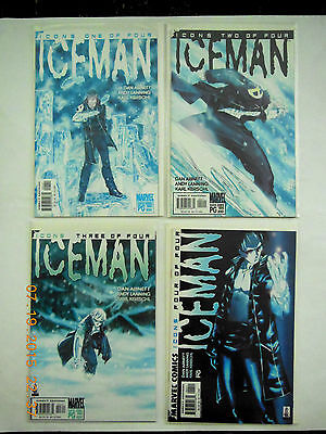 Marvel Comics Icons Ice Man #1-4 Complete Abnett & Lanning  Comic Book Set! New!