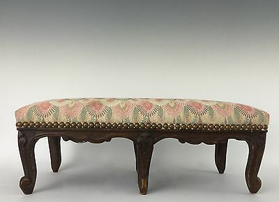 French Louis XV Carved Long Foot Stool or Rest - 6 Cabriole Legs • £194.44