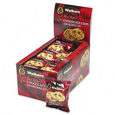 Walker`s Shortbread Cookies Chocolate Chip 2 Cookies/Pack 24 Packs/Box