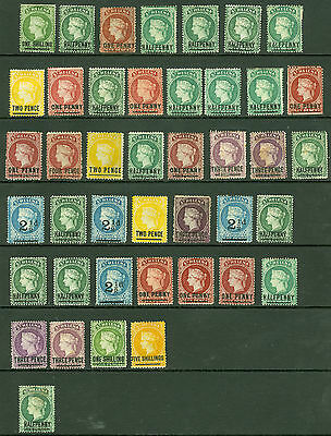 Early St Helena. Mint selection on stock card, values to 5/-. Condition mixed...