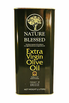 Nature Blessed Premium Greek Extra Virgin Olive Oil 5 lt Tin Can