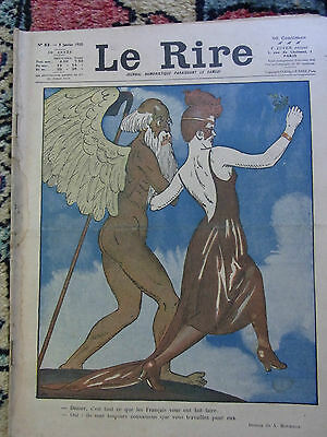 LE RIRE N°53 3 janvier 1920 couv A ROUBILLE & LABORDE Old french lampoon paper
