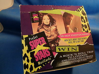 Rock Stars - Super Stars Music Cards - 1991 Pro Set Box (36) Packs