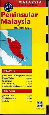 Map of Peninsular Malaysia, by Periplus Travel Maps