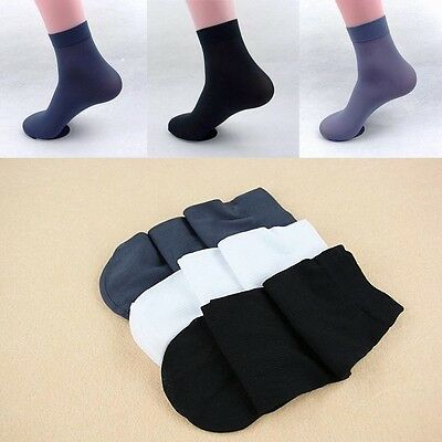 10 Pairs Lot Men Bamboo Charcoal Ultra Thin Breathable Sports Ankle Dress Socks