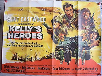 Kelly's Heroes, Original UK Quad Poster, Clint Eastwood, Telly Savalas, '70