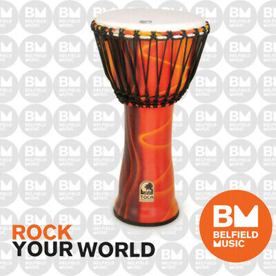 """Toca 12"""" Freestyle Djembe Percussion African Hand Drum Fiesta 12 Inch SFDJ12F"""