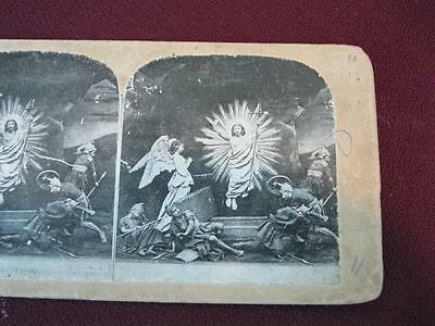 Stereoview Christian Christianity Bible Scene The Resurrection Jesus (O) AS IS