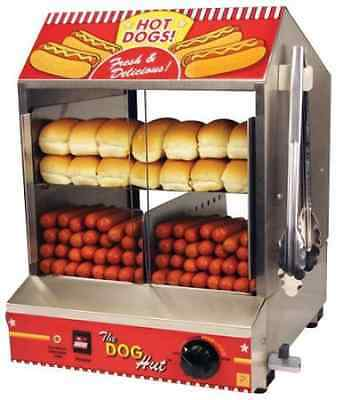 The Dog Hut Hotdog Steamer Bun Warmer cooker commercial  Grill Concession Cart
