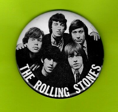 Rolling Stones the 1965 pinback button badge SOLD ON 1965 TOUR
